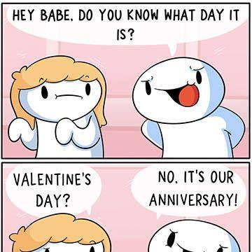 Valentines Anniversary in 2020 Funny comic strips, Odd