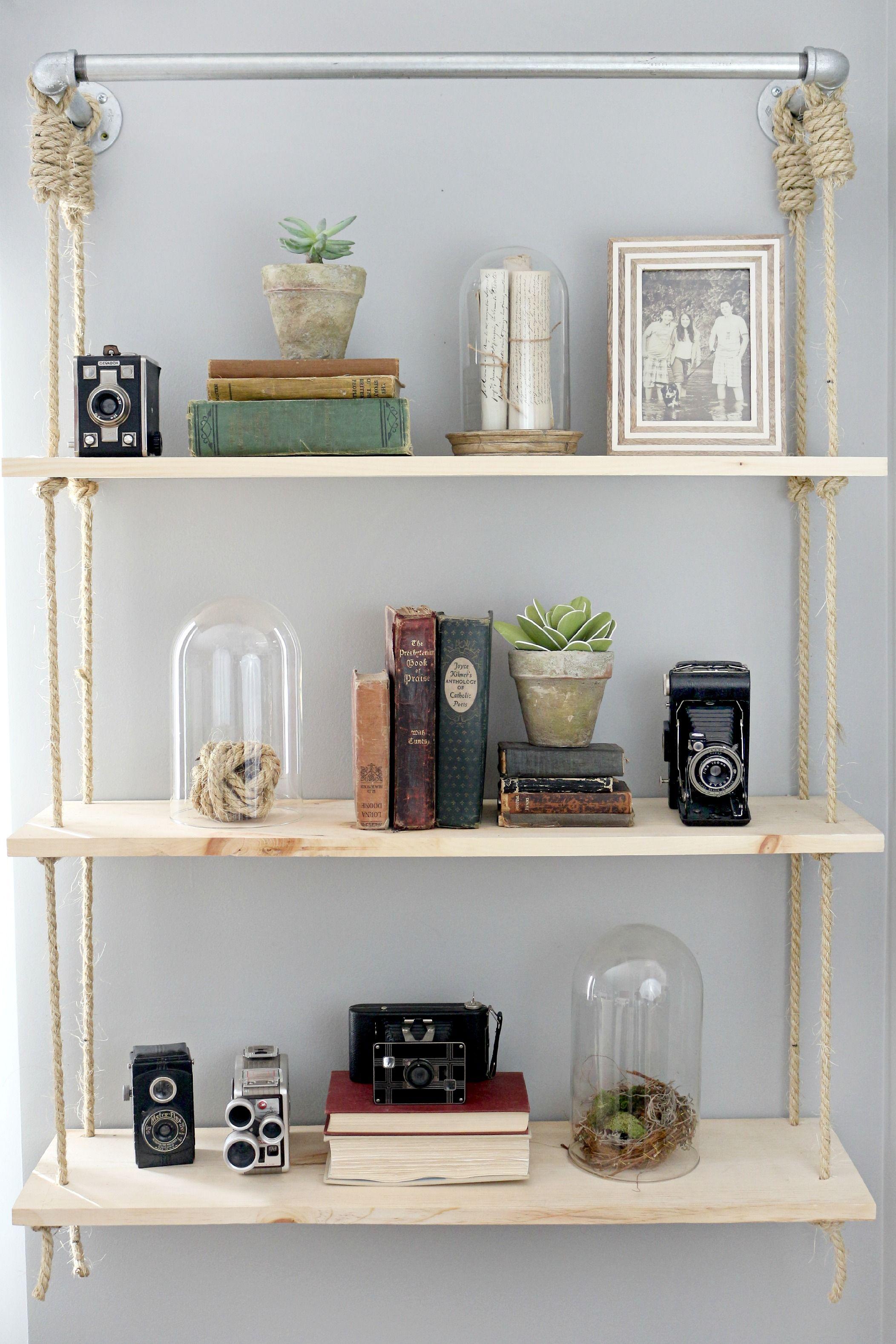 Hanging shelves diy home misc pinterest wood shelf shelves
