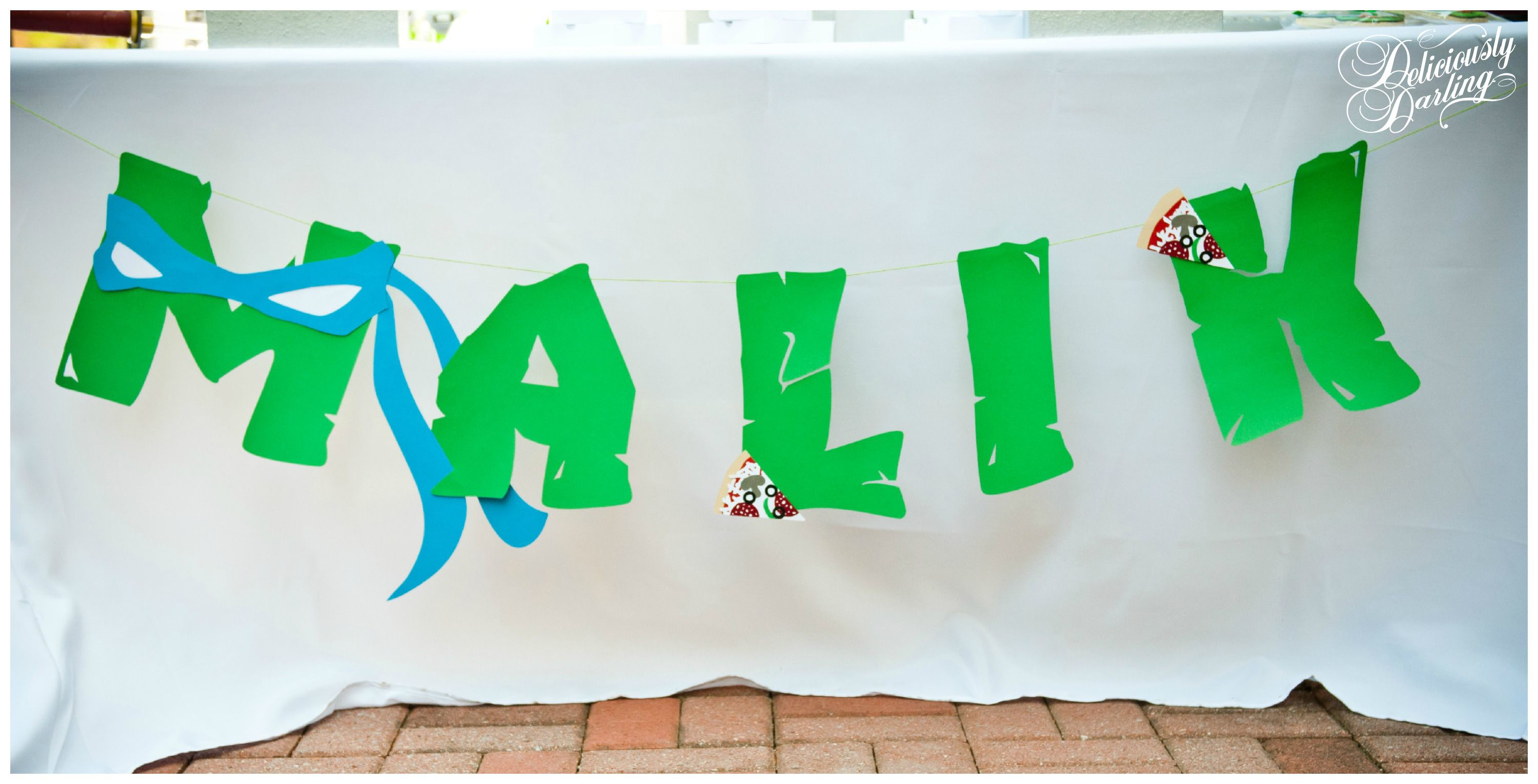 Deliciously Darling   Teenage Mutant Ninja Turtle Birthday Party   Desserts- This banner is fantastic!