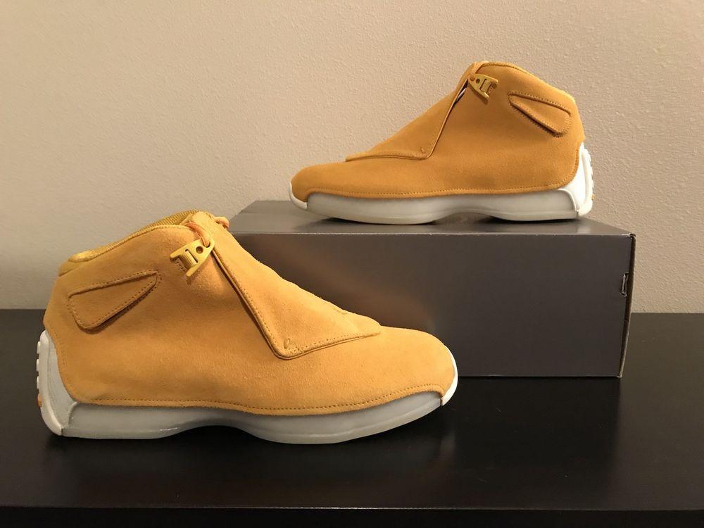 6169571dbce5b4 Jordan Retro 18 yellow orchard size 10.5  fashion  clothing  shoes   accessories