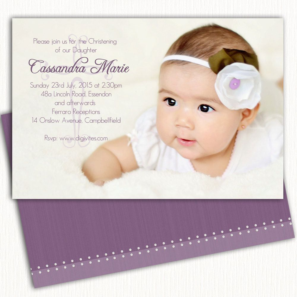Invitation Card For Christening Blank Background With Images