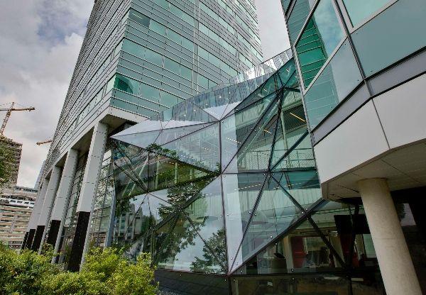 'het Kristal'  verbindingsdeel kantoorgebouw SNS Reaal Utrecht