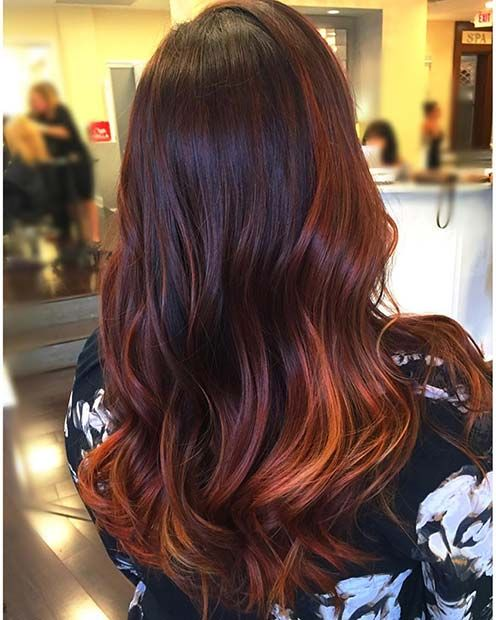 23 Winter Hair Color Ideas & Trends for 2018 #copperbalayage
