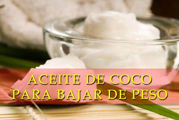 Aceite de coco sirve para bajar de peso