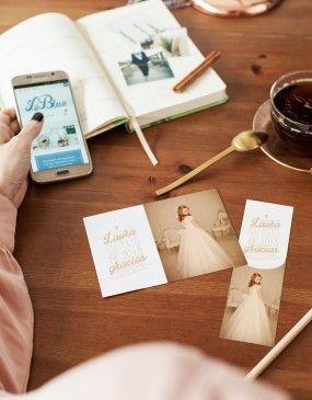 Invitaciones, recordatorios, marcapáginas y libros de firmas para las comuniones más bonitas en www.leblue.es