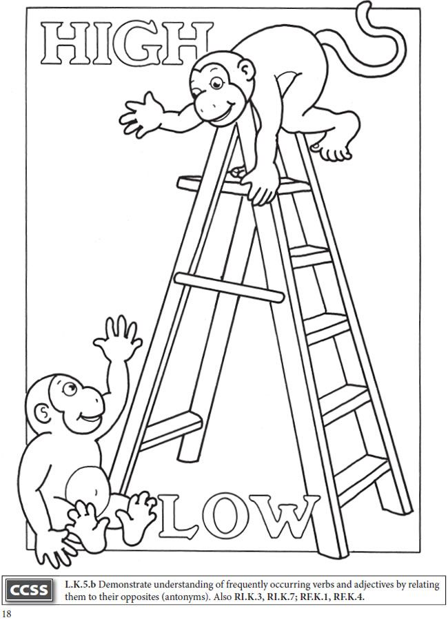 boost fun with opposites coloring book dover publications boost coloring books opposites. Black Bedroom Furniture Sets. Home Design Ideas