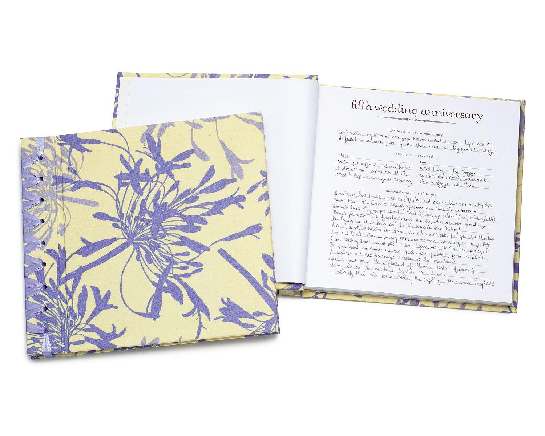 Anniversary journal wedding book