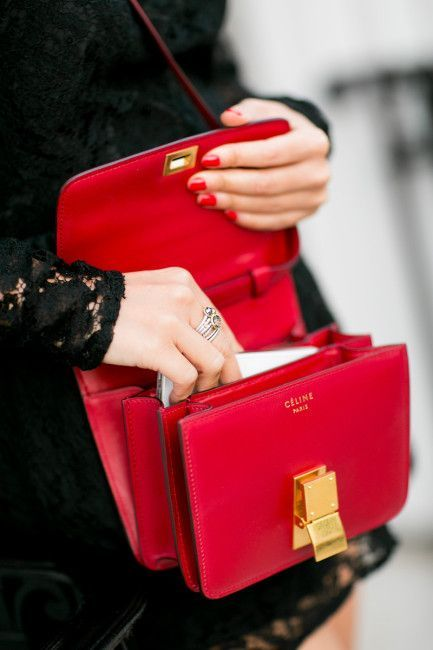 df6156515f Red Celine Box Bag