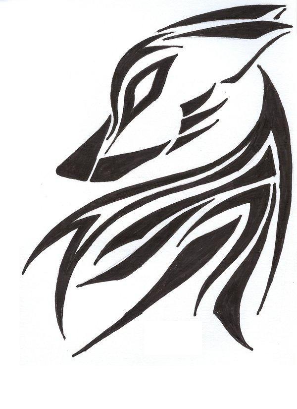 Lone Wolf Tattoo Tribal Wolf Tattoo Tribal Tattoos Lone