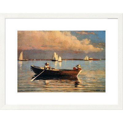 """Global Gallery 'Coastal Glouchester Harbor' by Winslow Homer Framed Graphic Art Size: 23.4"""" H x 30"""" W x 1.5"""" D"""