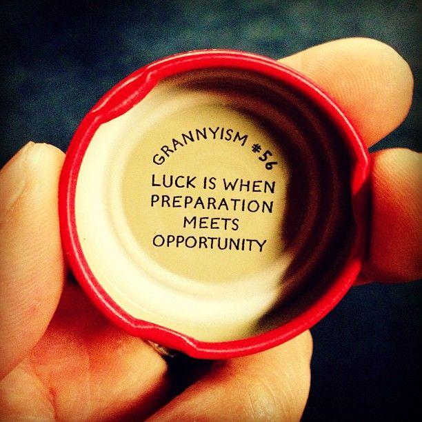 La Suerte es cuando la preparación conoce a la oportunidad