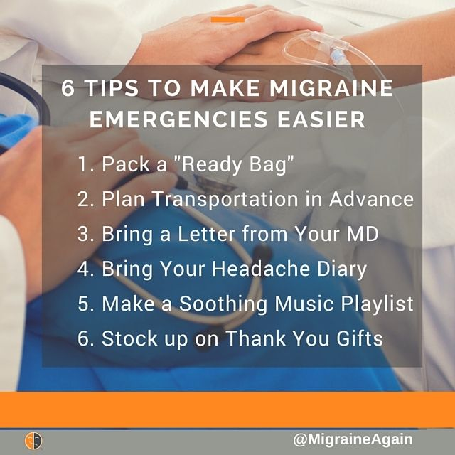 Avoiding the ER is hard when you get frequent #migraines. 6 tips to make it a little easier -- and get faster relief. More: _________