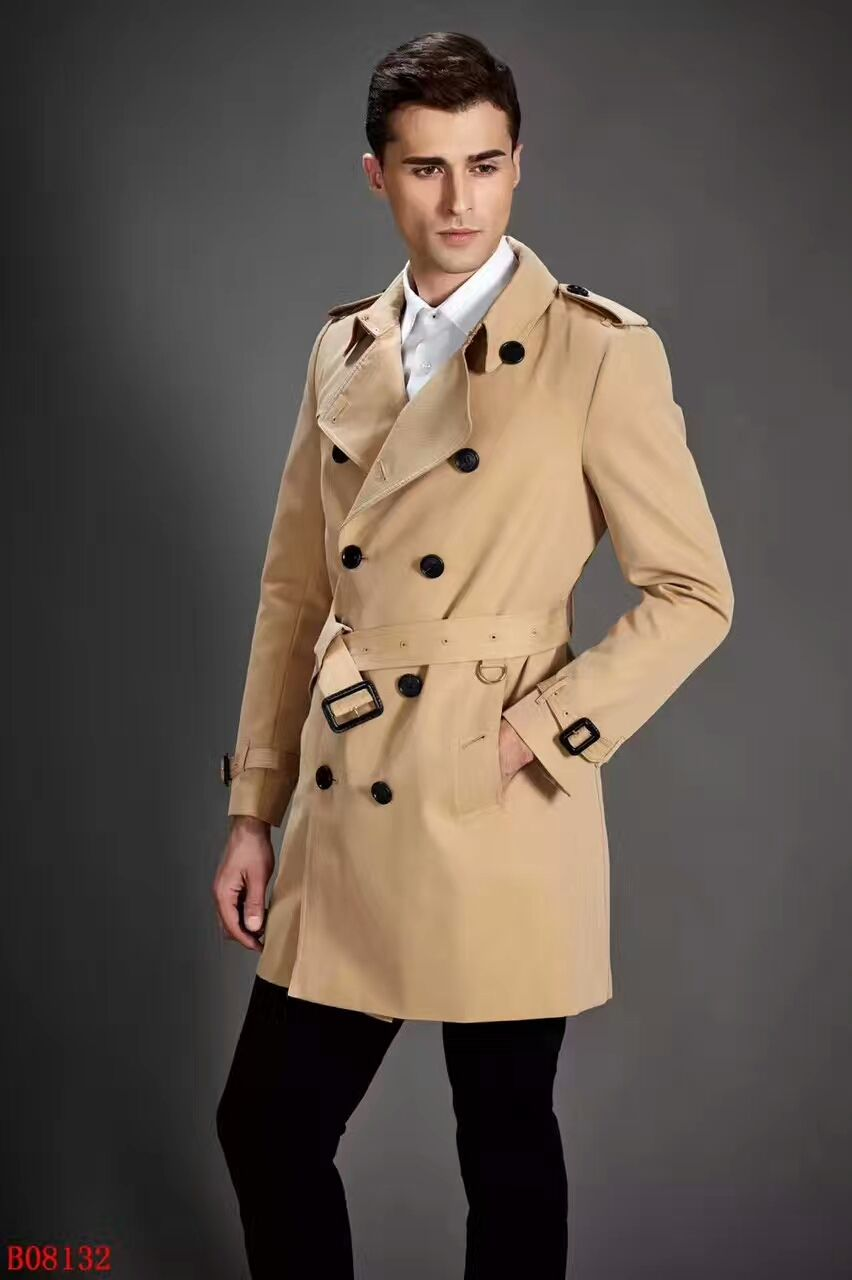 bcc7ddf1 Replica BURBERRY Mens Trench Coat High Quality Beige Size S-2XL ...
