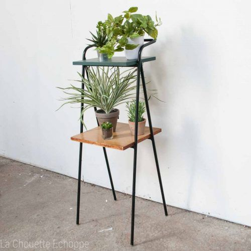 table d 39 appoint vintage des ann es 50 pour t l phone ou porte plantes porte plantes echoppe. Black Bedroom Furniture Sets. Home Design Ideas