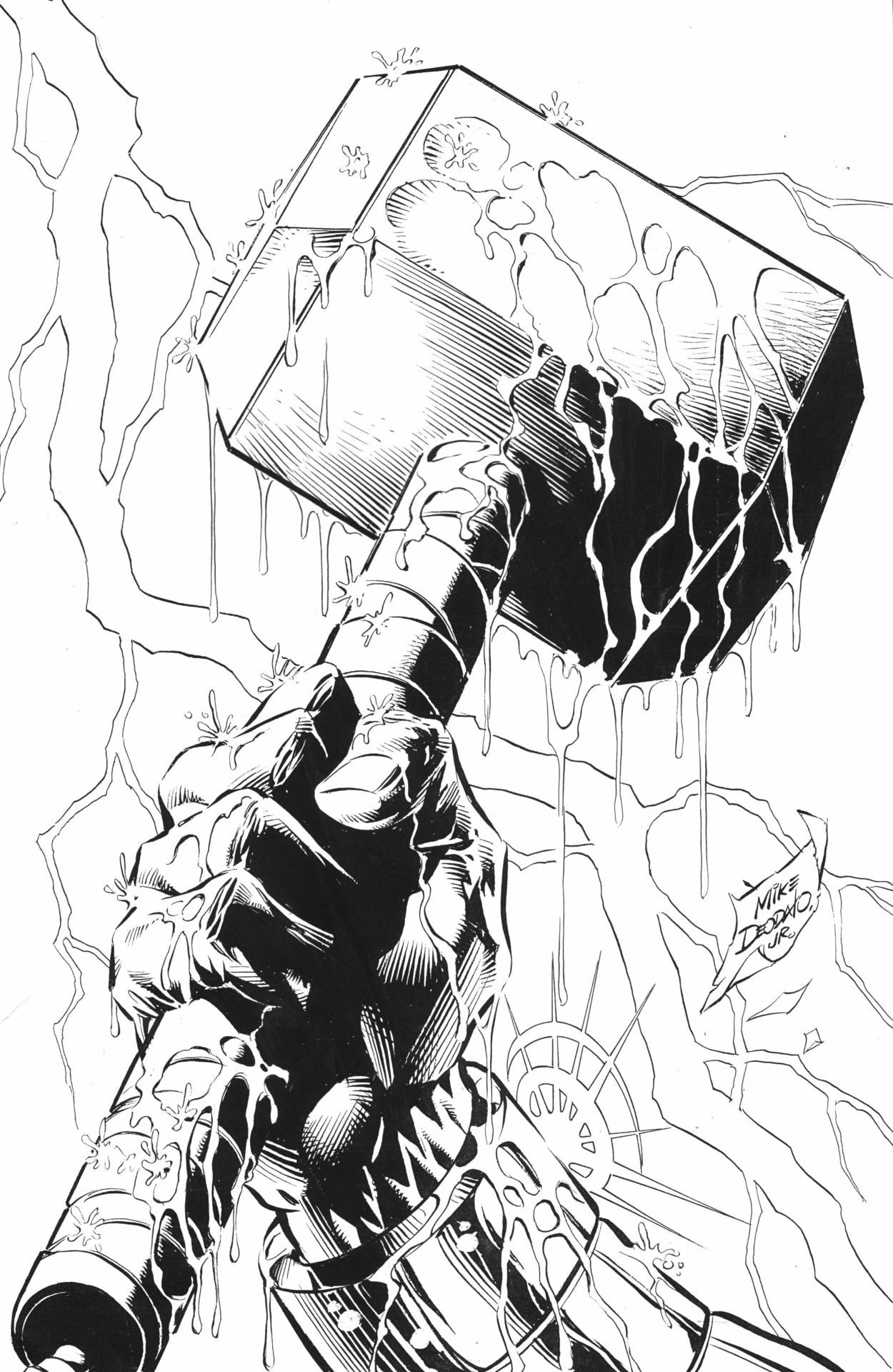 Mjolnir by Mike Deodato Jr. | The Mighty Thor | Pinterest ...