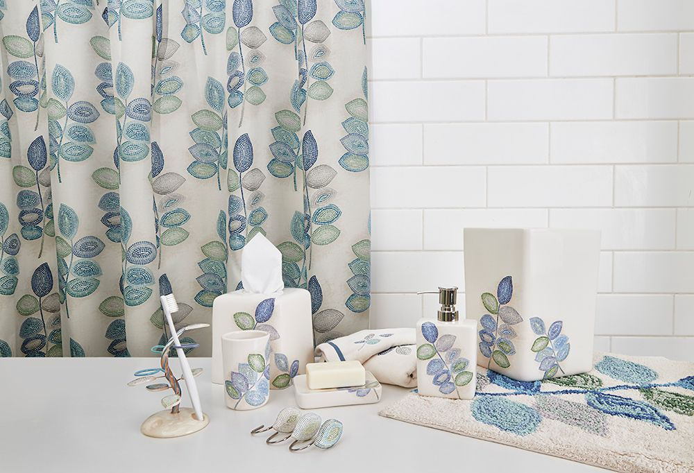 croscill mosaic leaves spa bath