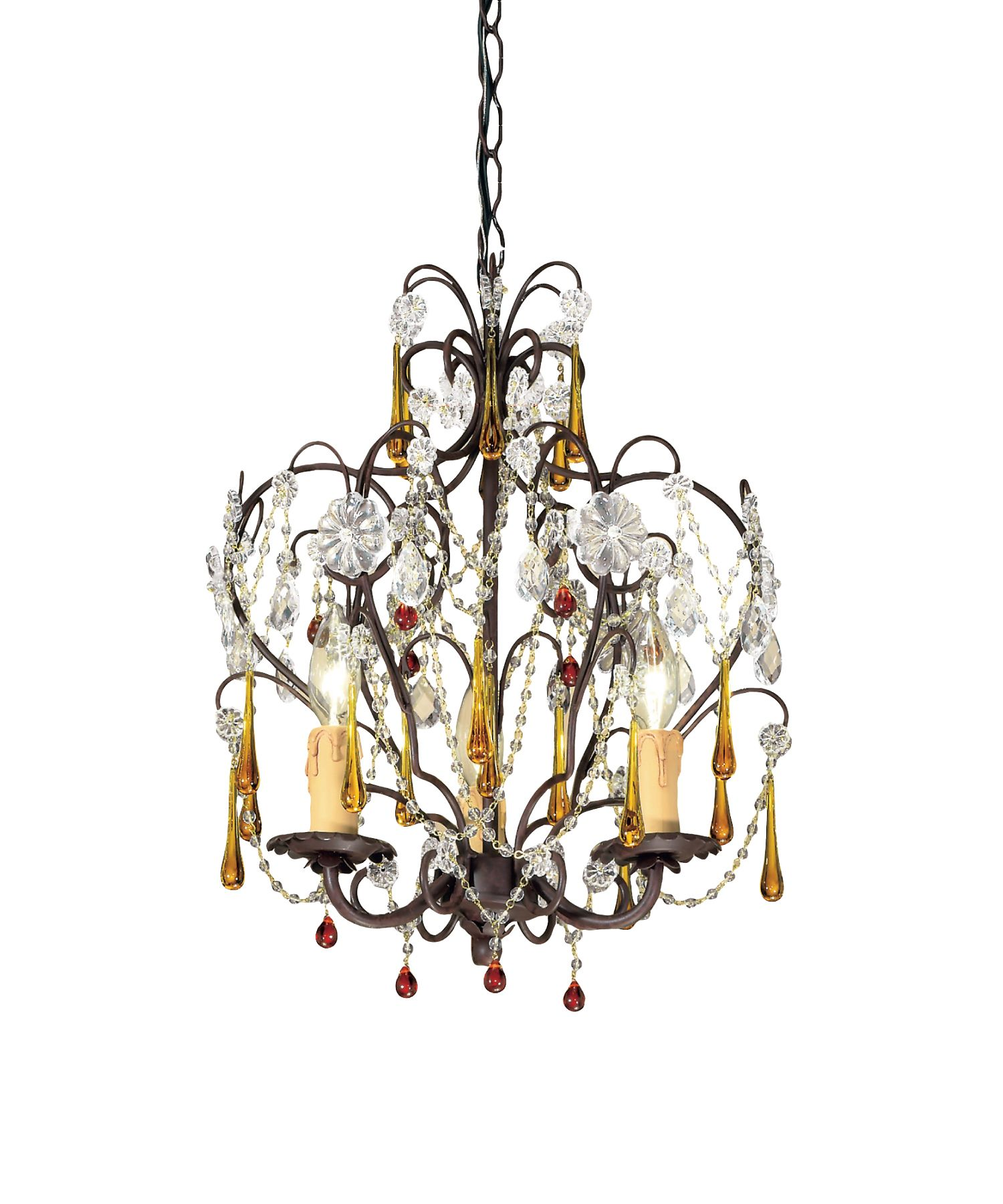Ella 3 light mini candle chandelier in dark rust crystorama ella 3 light mini candle chandelier in dark rust crystorama aloadofball Choice Image
