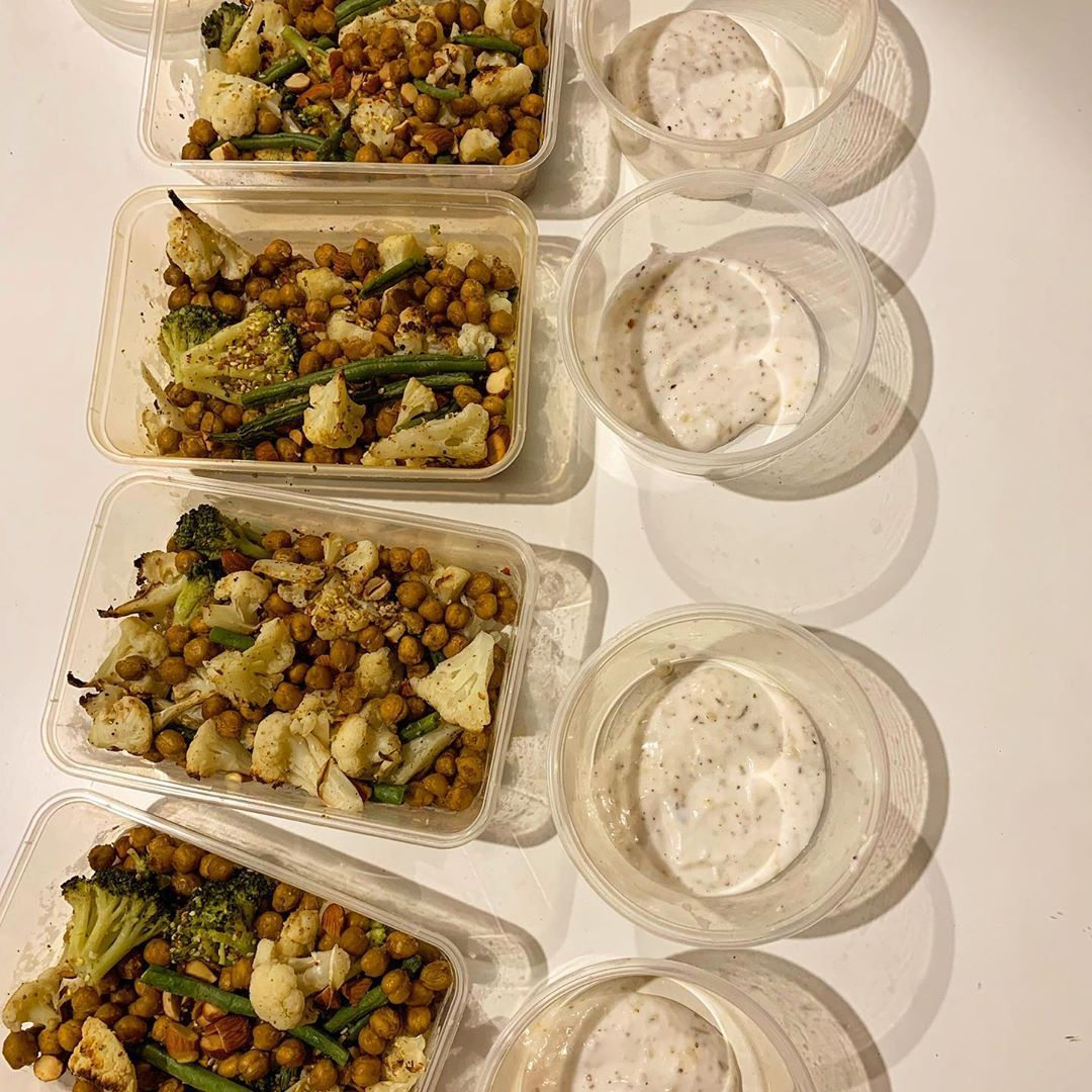 Roasted Chickpea & Cauliflower Salad w/ Dukkah, courtesy of @centrfit app 🥗 . . . . #healthyvegan #h...