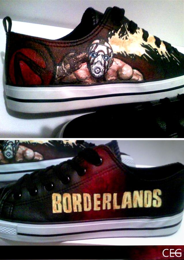 Borderlands Shoes by fan Borderlands, Geek games, Tales
