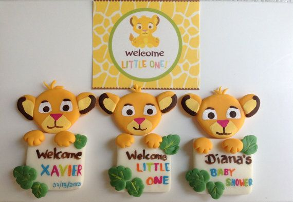 Baby Lion King Baby Shower Favors Magnets By Marshmallowfavors