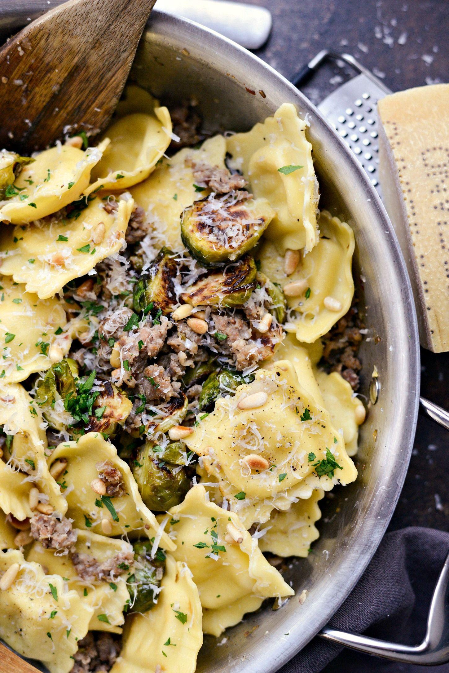 Italian Sausage Brussels Sprout Ravioli Recipe Pasta Dishes