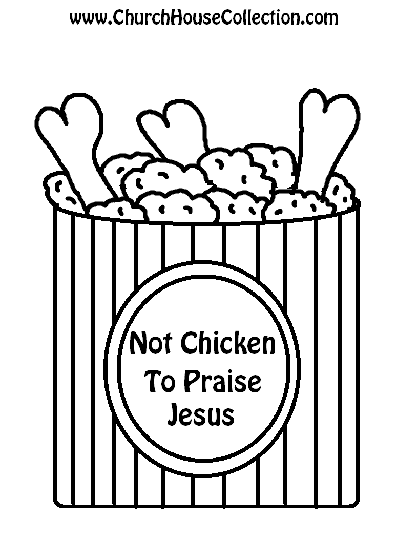 Fried Chicken Not Chicken To Praise Jesus Template | kids crafts ...