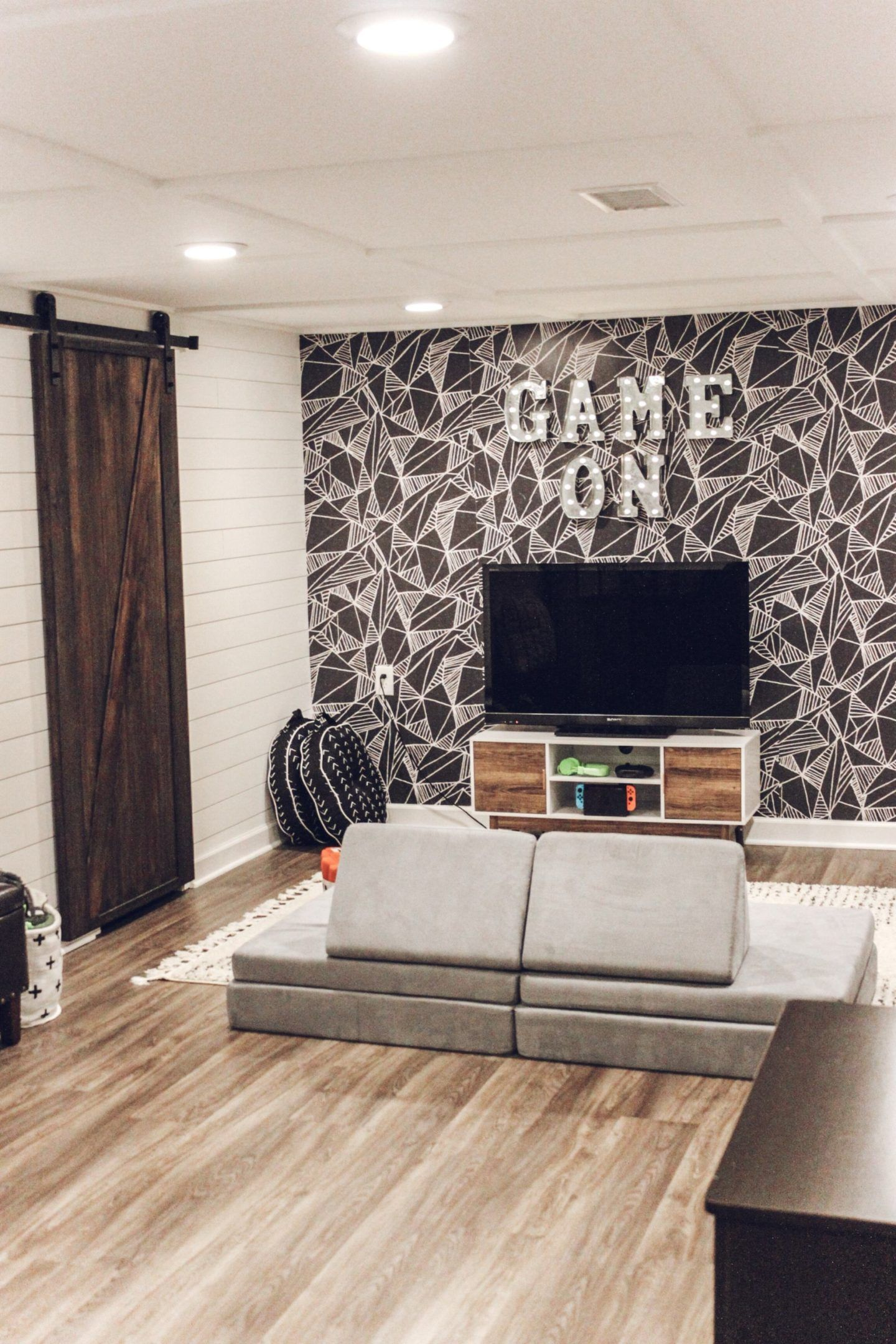 Game Room Makeover with Wallpaper   Boys game room, Room ...