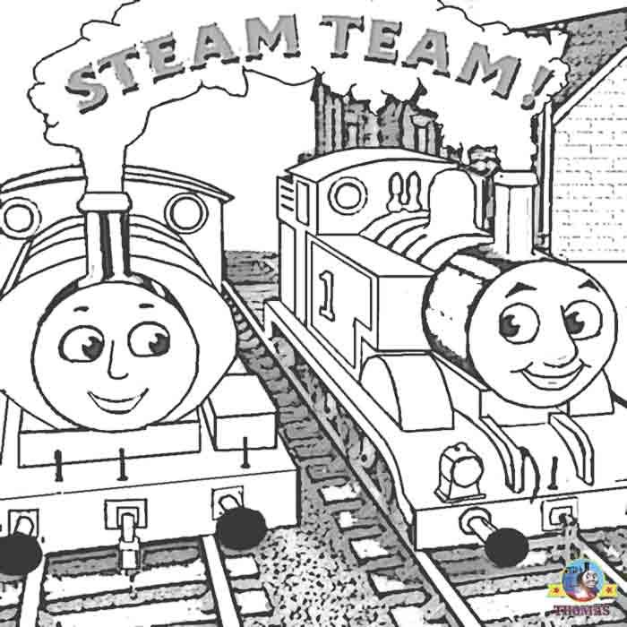 tank engine Percy and Thomas the train friends coloring pages