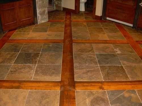 Wood And Tile Floors Slate Flooring Kitchen Flooring Tiles