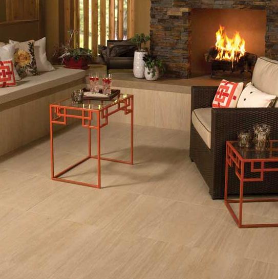 Beige Cream Wood Look Tile Floor For Living Room Tile
