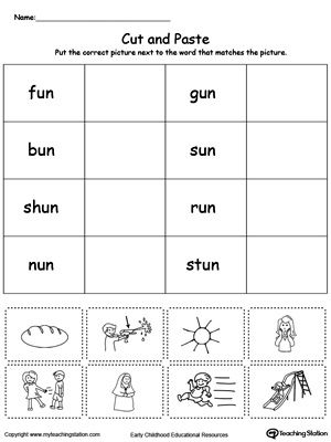 Un word family match picture with word word family worksheets free un word family match picture with word worksheet topics word families reading and sorting ibookread Read Online