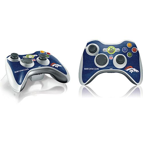 Skinit Denver Broncos Microsoft Xbox 360 Wireless Controller Distressed Skin