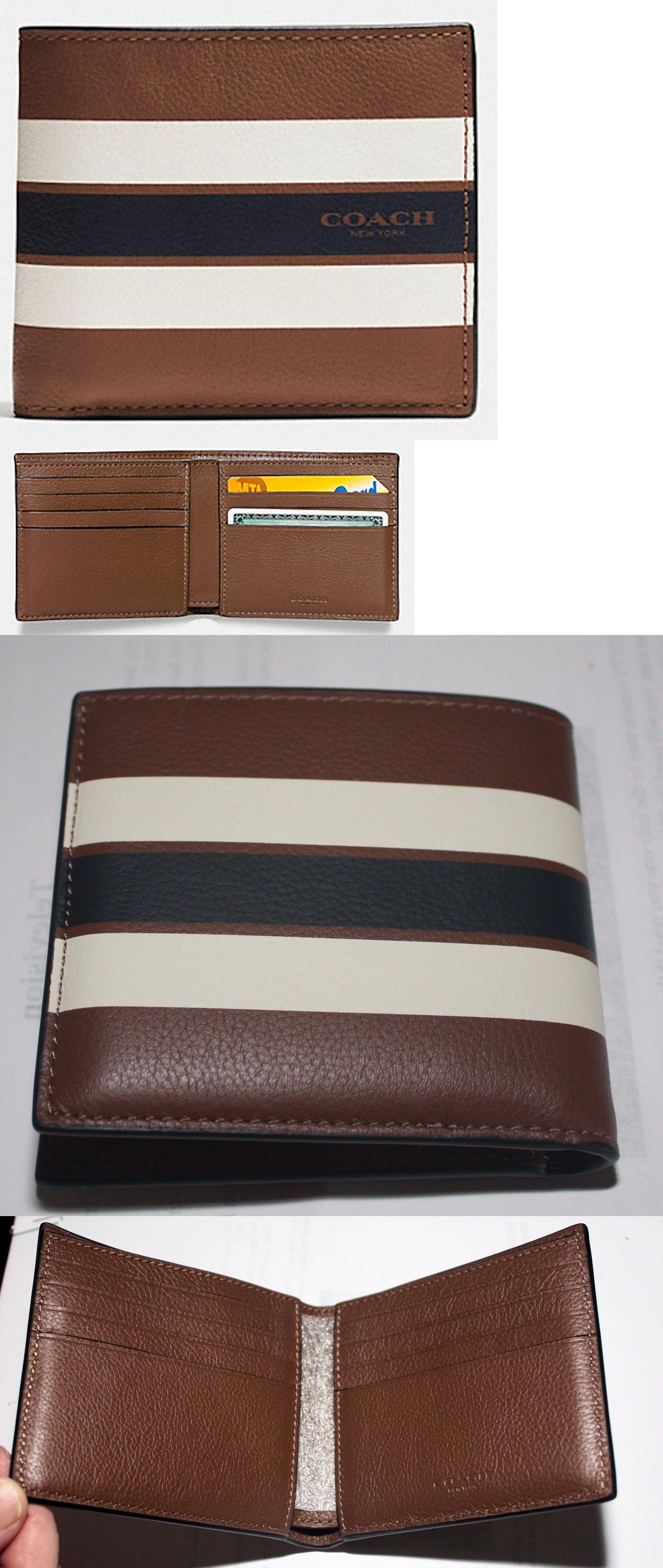 bfcb0272 Wallets 2996: Coach Men S Double Billfold Wallet-Varsity Leather ...