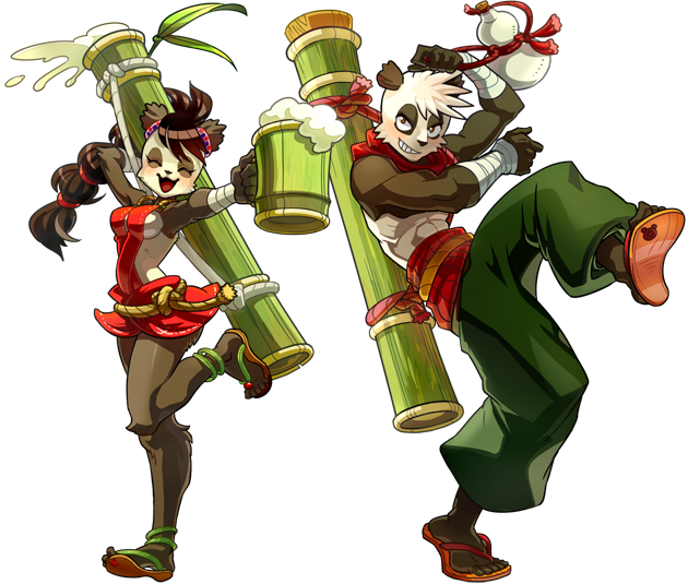 Wakfu Anime Character Design : Official pandawa class artwork from dofus