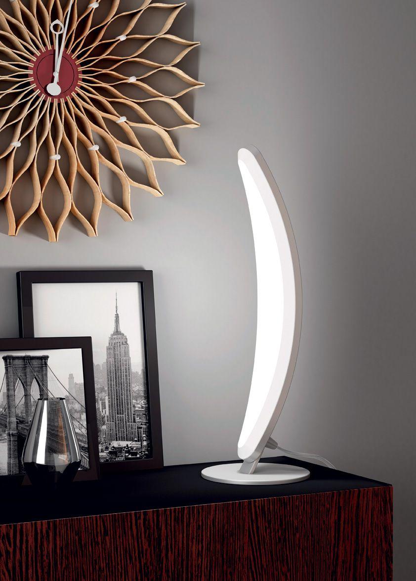 laurie lumière luminaire lampe à pose LED métal brossé et