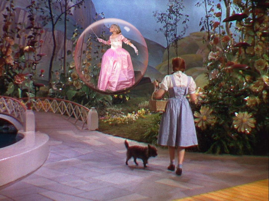 good witch of the east in bubble   in a bubble in ...
