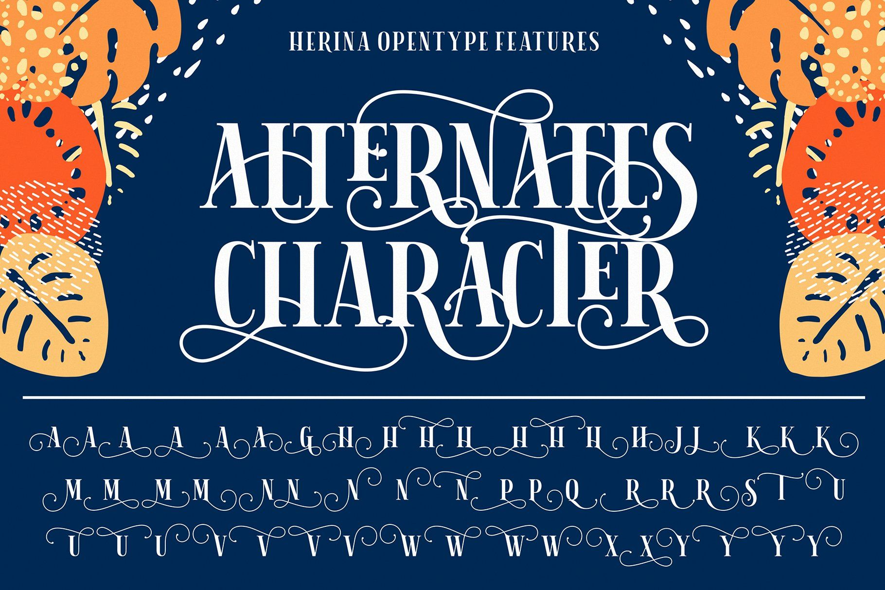Herina Font + Extra (With images) Download fonts, Letter
