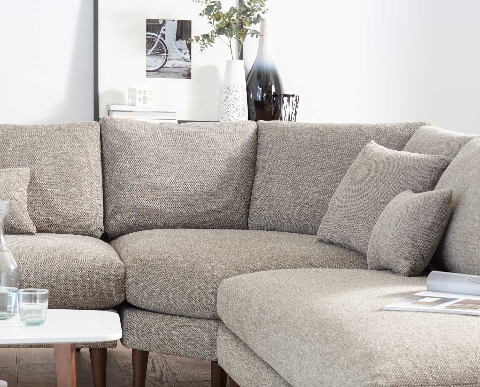 The Grand Hugo Sectional From Scandinavian Designs Is A Great Value And A Unique Living Room Furniture Contemporary Living Room Sectional Small Sectional Sofa