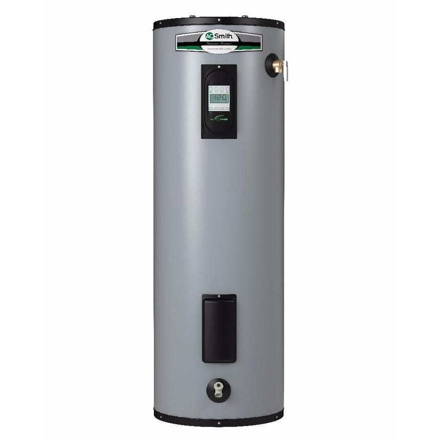 A O Smith Signature Premier 50 Gallon 12 Year Limited Tall Electric Water Heater With Images Electric Water Heater Water Heater Heater