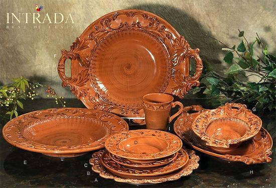 Old World Tuscan Dinnerware | Baroque Paprika Charger Plate 13.75  (A) & Old World Tuscan Dinnerware | Baroque Paprika Charger Plate 13.75 ...