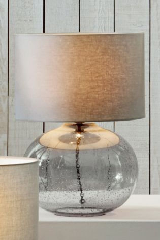 Buy Smoke Grey Bubble Glass Table Lamp From The Next Uk Online