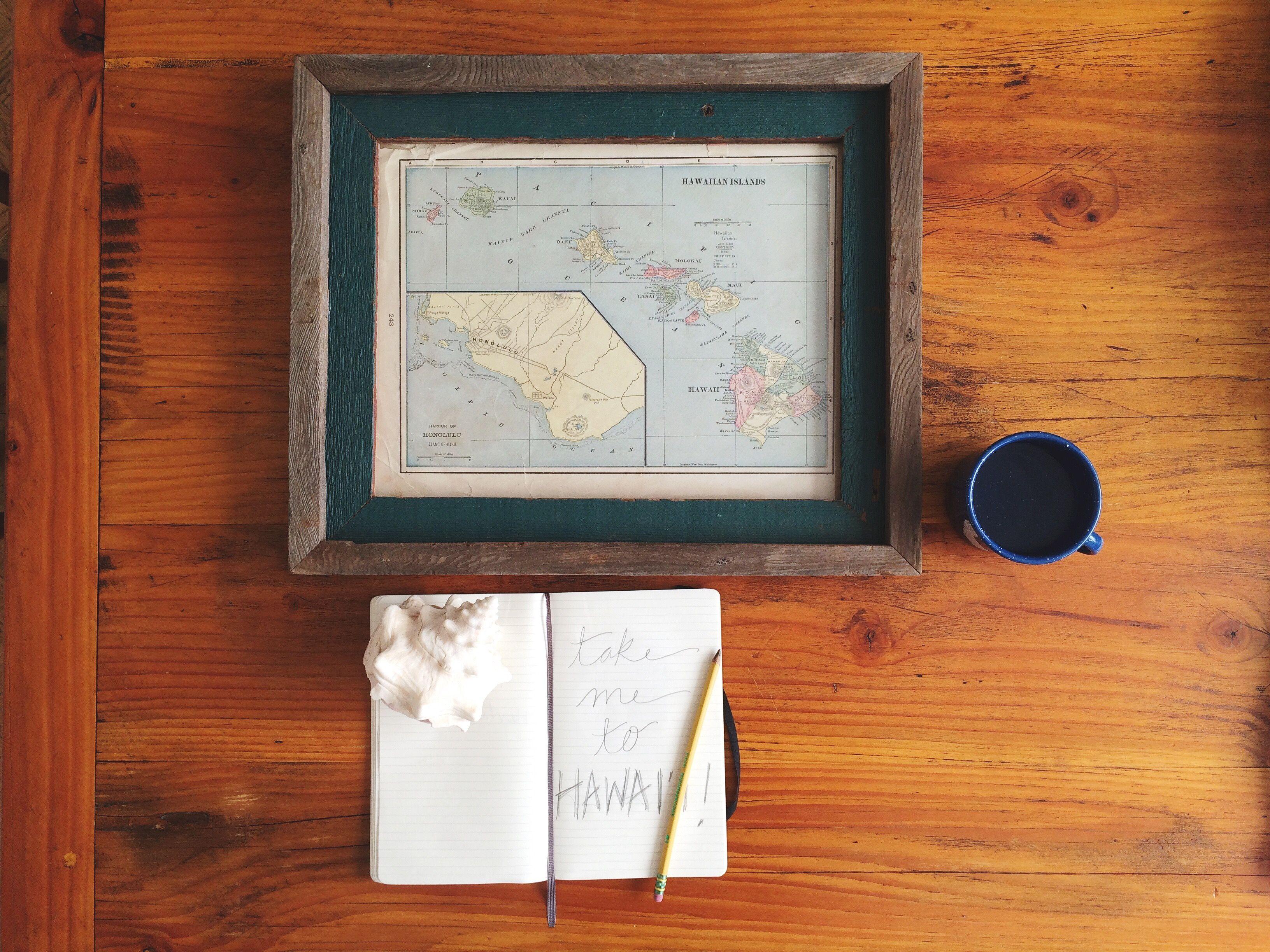 Take Me To Hawai I Reclaimed Wood Frame Made By Alibi Interiors