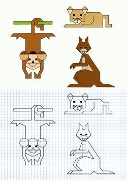 Logico Matematico Trabalhando O Raciocinio Malha Quadriculada
