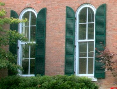 Quarter Round Arched Exterior Shutters On A Victorian