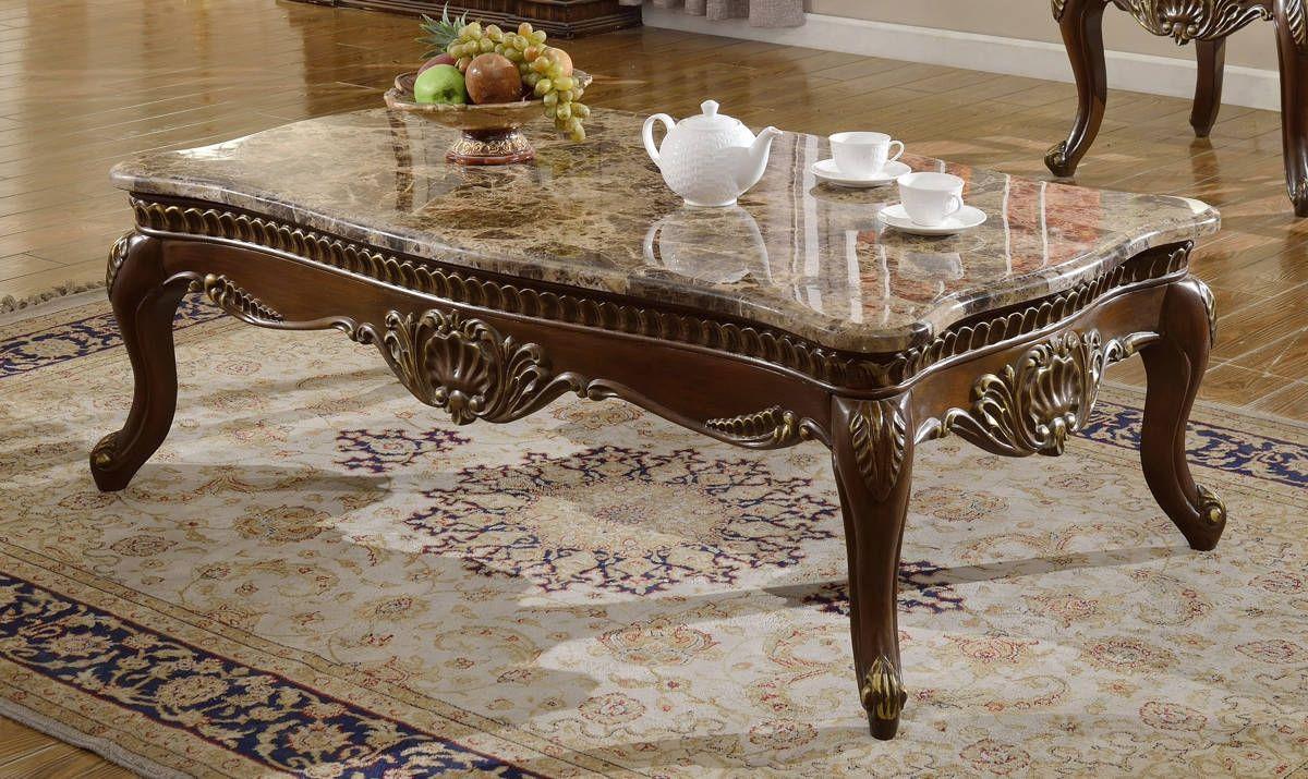 HttpswwwtheclassyhomecomCatania Traditional Dark Cherry Genuine - Genuine marble coffee table