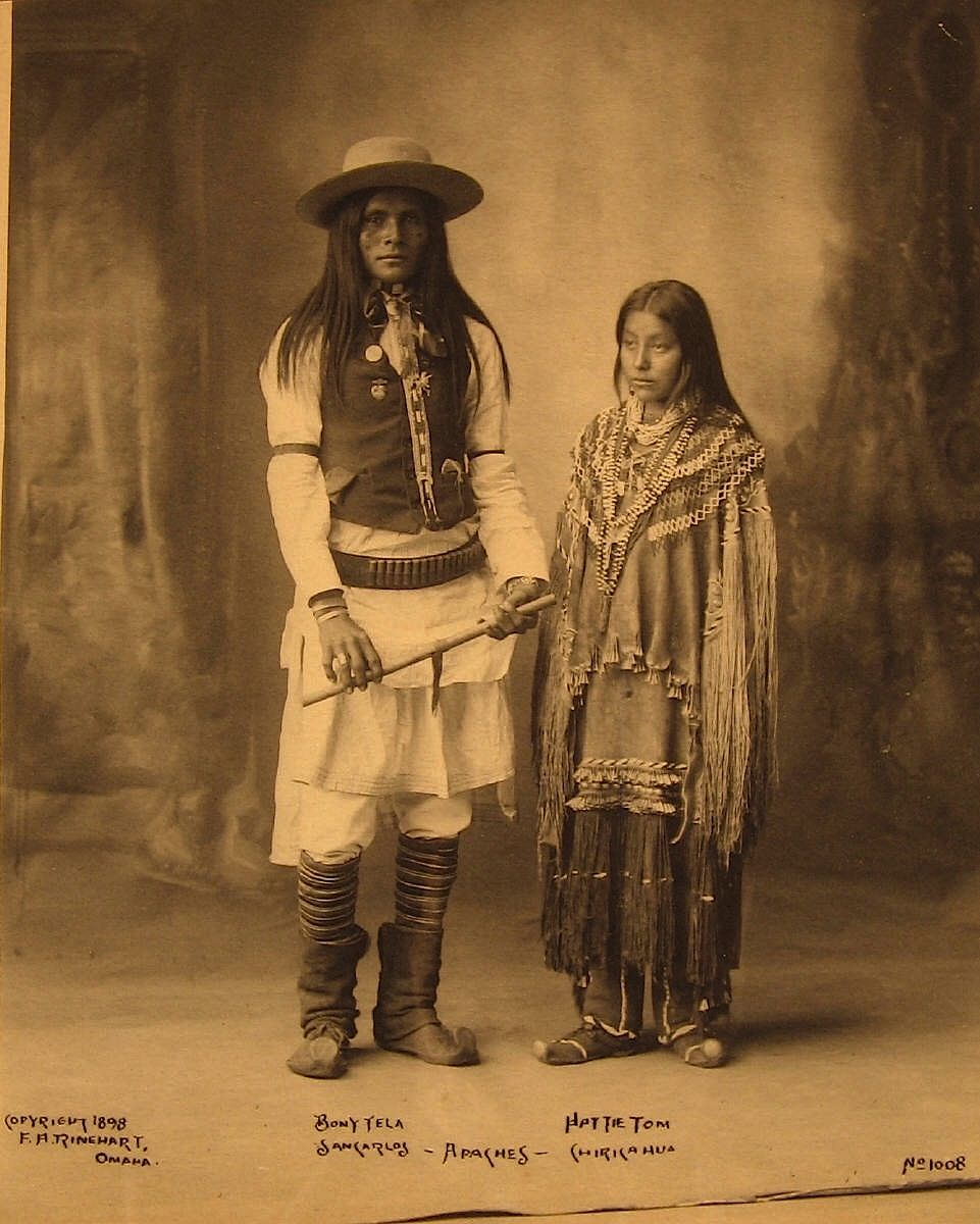 1898.......HUSBAND & WIFE ( APACHE )......PHOTOGRAPHED BY EDWARD S. CURTIS.........SOURCE MAGICTRANSISTOR.TUMBLR.COM..........