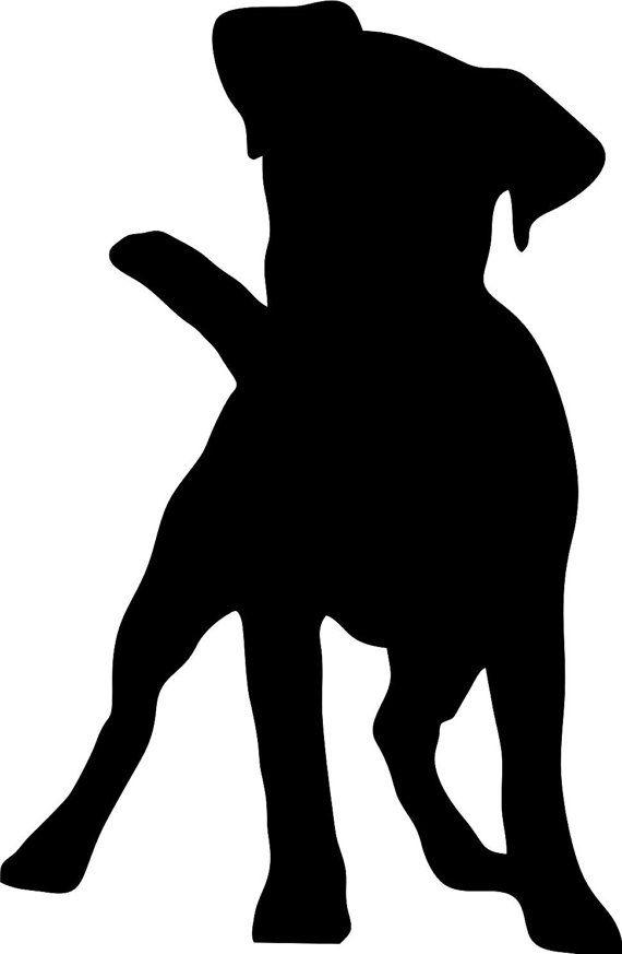 jack russell terrier v1 dog breed silhouette custom vinyl decal