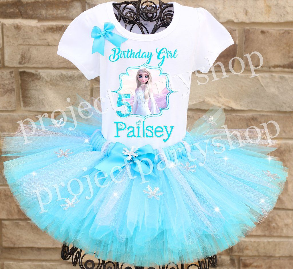 Frozen 2 Elsa Birthday Tutu Outfit Elsa birthday