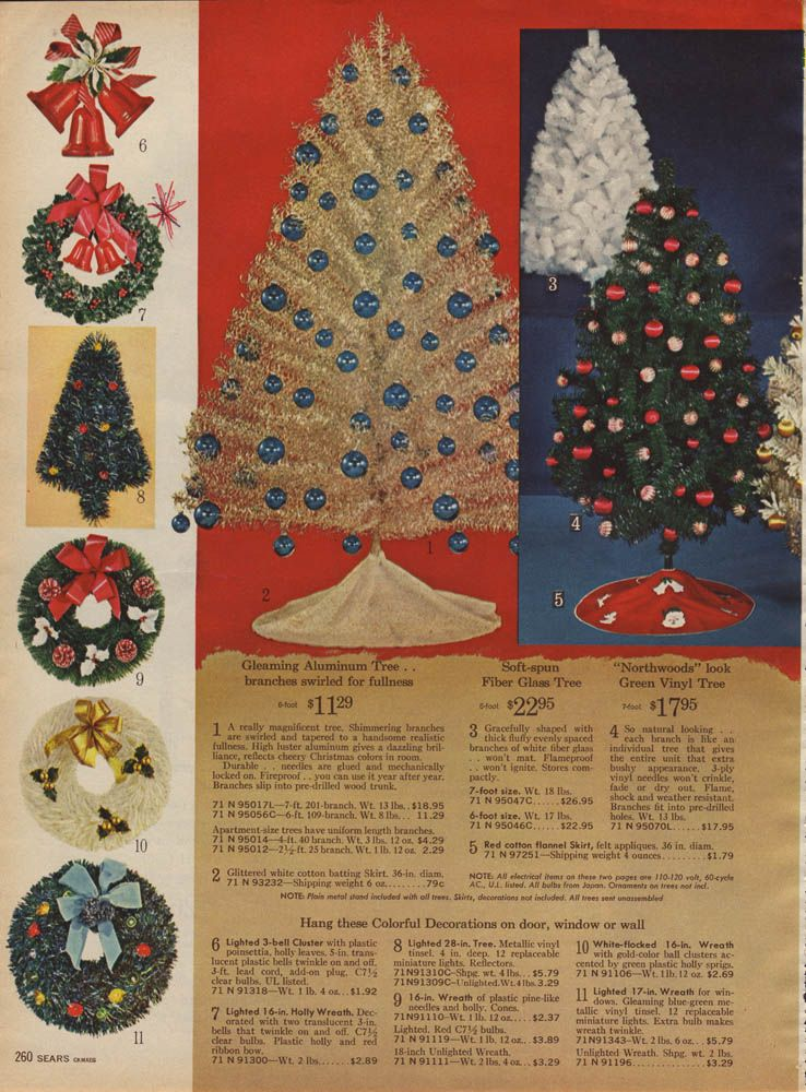 1964 Sears Catalog Artificial Christmas Trees - Artificial Christmas Trees! A Vintage Catalog Extravaganza Kris