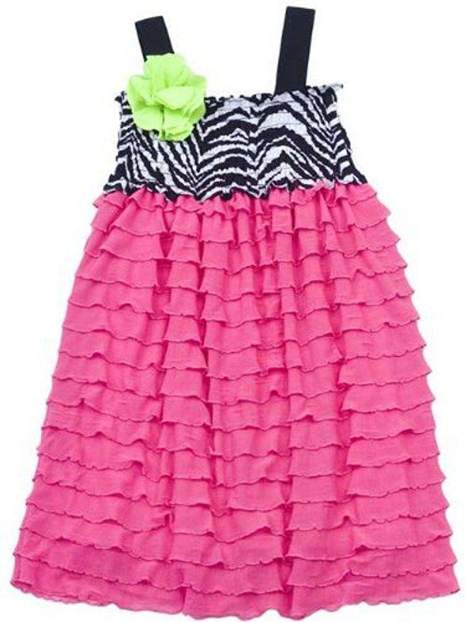 259cf1f05f RARE EDITIONS Girls Pink Eyelash Zebra Smocked Summer Party Sun Dress Size  8 NWT  RareEditions  EyelashRuffledSmockedBodiceTankParty   ...